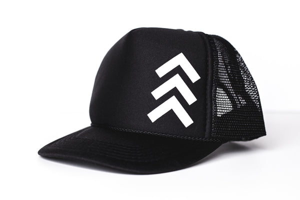 Tri (black) - Snapback Trucker Hat