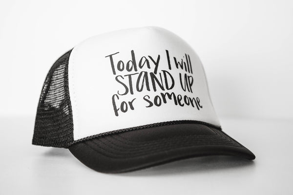 Stand Up (white) - Snapback Trucker Hat