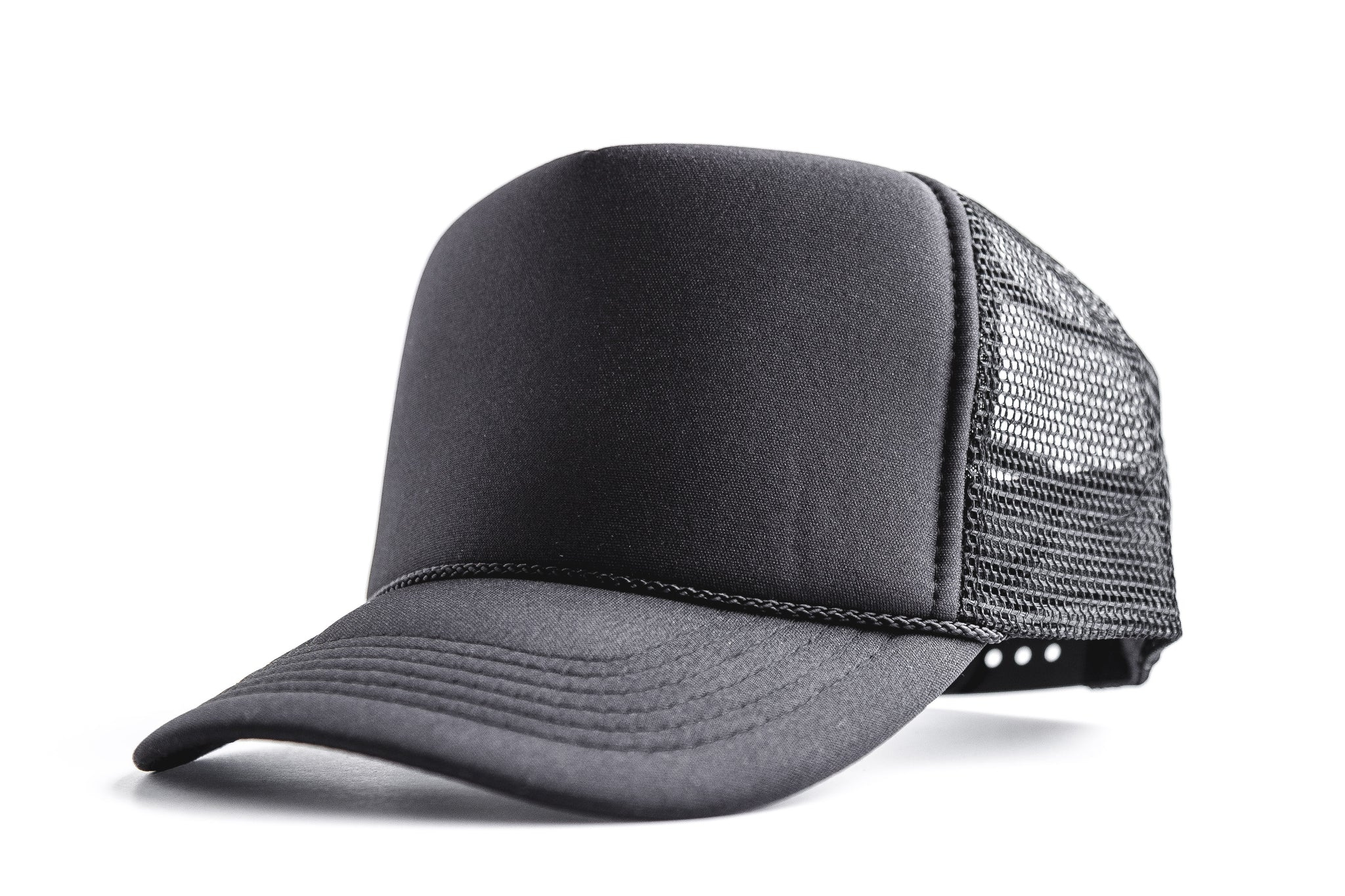 Blank (black) - Snapback Trucker Hat