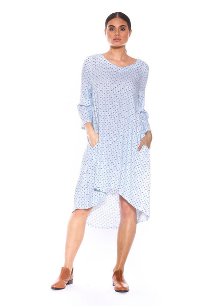 Brave & True Dania Dress Powder Blue Orbit