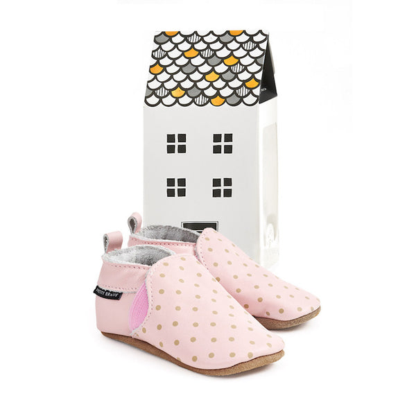 Pretty Brave Slip Ons Blush with dots