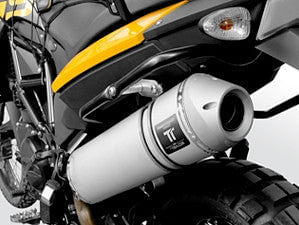 QD Rear Silencer - Titanium (F650/700/800GS)