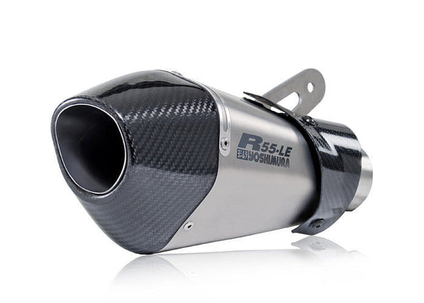 Yosh R55-LE Titanium Slip-On - Carbon End Cap (S1000RR)