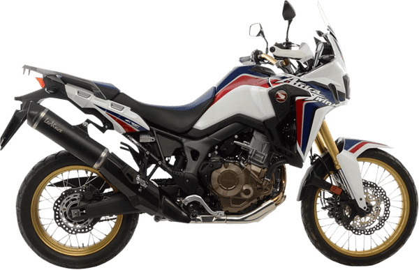 Leo Vince Slip-on NERO, Black Stainless Steel Exhaust (CRF1000L Africa Twin)