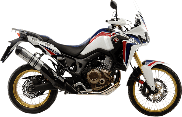 Leo Vince Slip-on LV ONE EVO, Stainless Steel Exhaust (CRF1000L Africa Twin)