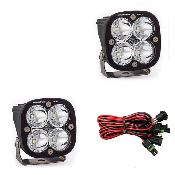 Baja Designs Squadron Pro LED Lights, Pair w/wire harness