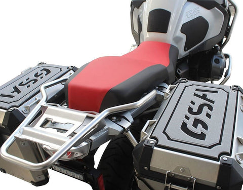 TechSpec Pannier Covers For Side Case Lids On BMW R1200GS Adventure with OEM Luggage