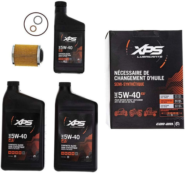 CAN AM ATV MAINTENANCE AND OIL CHANGE KIT SYNTHETIC BLEND 500CC OR MORE (5W40)