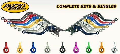 Pazzo Racing Adjustable Clutch & Brake Levers (BMW R1200GS/Adventure -'12/'13, HP2 Enduro)