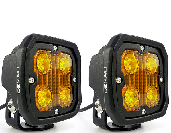 Denali D4 2.0 TriOptic LED Light Kit With DataDim Technology & Amber Lenses