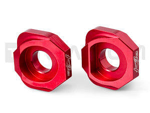 Twalcom by Kite - Chain Tensioner Adjuster Blocks, Racing Red (F800GS)