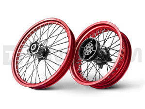 Twalcom by Alpina - Complete Tubeless STS Wheels 2.15x21 Front - 4.25x17 Rear. Red/Black (F800GS)