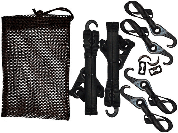 LYNX Hooks Outdoorsman Stash Bags (4 Tie-Downs, 4 Bobtails, 4 Gear Grabbers)