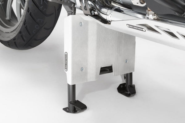 SW-MOTECH Skidplate Extension for the Original BMW R1200GS LC '13 Centerstand, Silver