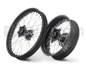 Twalcom by Alpina - Complete Tubeless STS Wheels 2.15x21 Front - 4.25x17 Rear. Black/Black (F800GS)