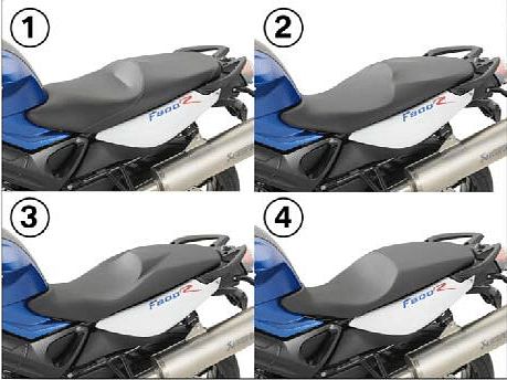 BMW Optional Seats (BMW F800GT/R/S/ST)