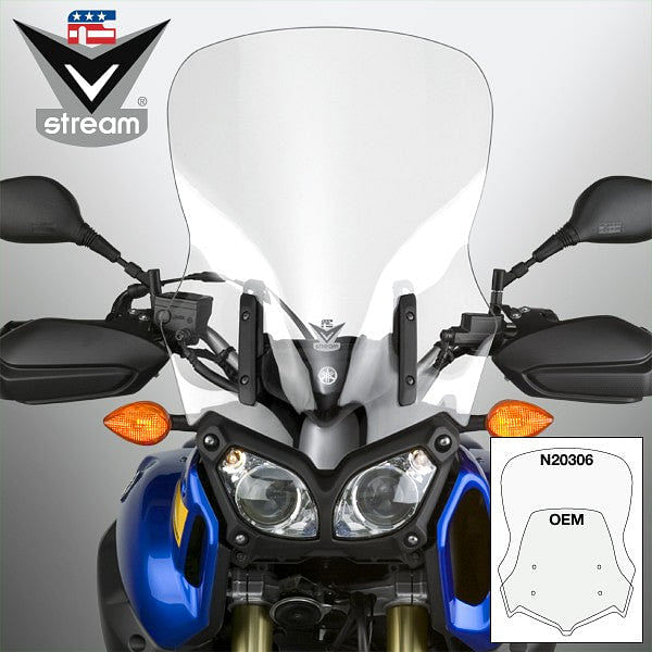 VStream Windscreen - Touring Height, Clear (Super Tenere)