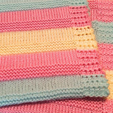 Cheery, hand knit baby blankets, made with 100% acrylic yarn - Knittins With Kittens - 3