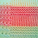 Cheery, hand knit baby blankets, made with 100% acrylic yarn - Knittins With Kittens - 4