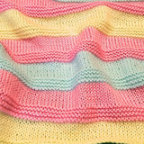 Cheery, hand knit baby blankets, made with 100% acrylic yarn - Knittins With Kittens - 5
