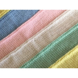 Cheery, hand knit baby blankets, made with 100% acrylic yarn - Knittins With Kittens - 6