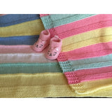 Baby Blanket - Cheery, Hand Knit Baby Blankets, Made With 100% Acrylic Yarn
