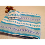 Hand knit baby blanket with matching hat - Knittins With Kittens - 3