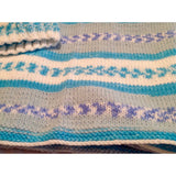 Hand knit baby blanket with matching hat - Knittins With Kittens - 4
