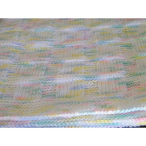 Hand knit baby blanket suitable for either a boy or a girl - Knittins With Kittens - 1