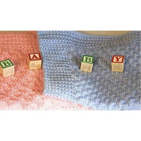 Super soft baby blanket knit with 100% acrylic yarn for size newborn - 6/9 months - Knittins With Kittens - 1