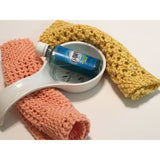 Set of 2 100% cotton fancy dishcloths - Knittins With Kittens - 9
