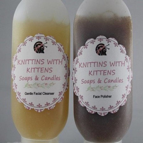 Facial Cleanser and Polish Kit - Knittins With Kittens - 1