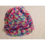 Brightly colored newborn hat - Knittins With Kittens - 4