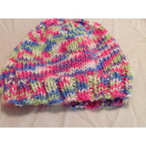 Brightly colored newborn hat - Knittins With Kittens - 5