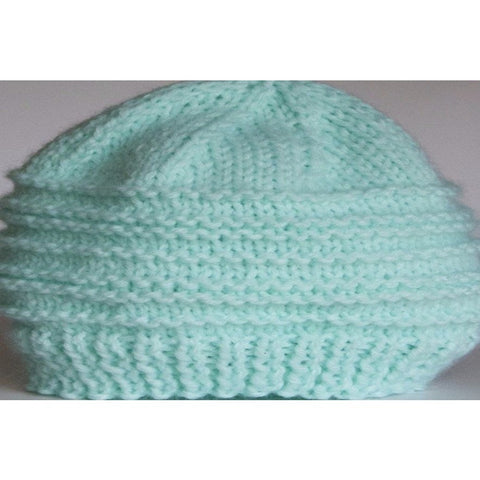 Newborn baby hat, hand knit with 100% acrylic yarn - Knittins With Kittens - 1