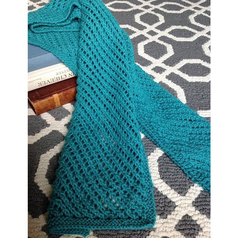 Custom Order this Hand knit lattice-work scarf - Knittins With Kittens - 1