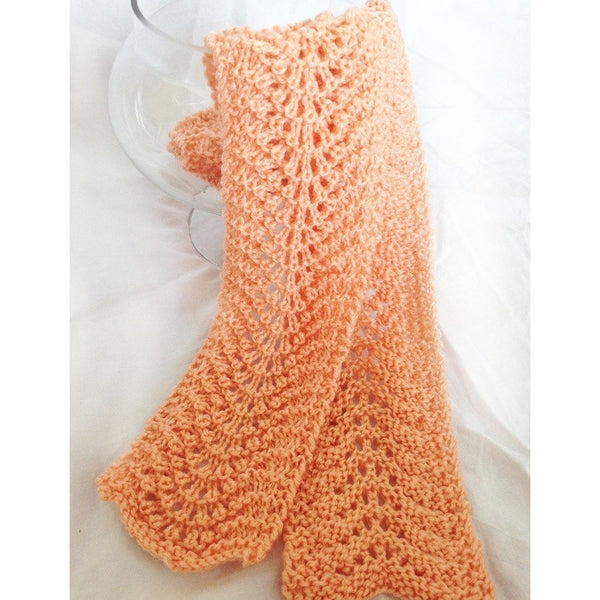 Hand knit delicate lace scarf - Knittins With Kittens - 1