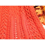 Intricate, hand knit lace scarf - Knittins With Kittens - 3