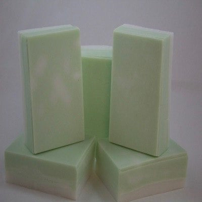 Generous size bath bars with a refreshing minty scent that's sure to wake you up - Knittins With Kittens - 1