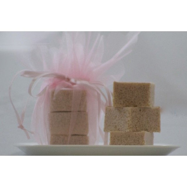 Grapefruit lily exfoliating bath cubes-Knittins With Kittens