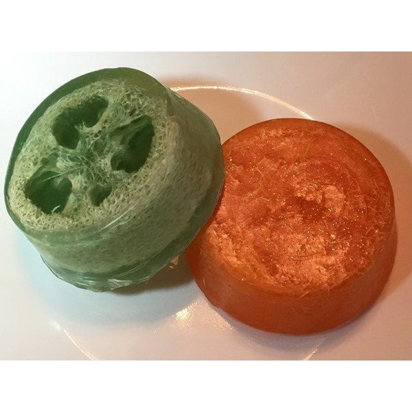 Loofah soap -- great for pedicures - Knittins With Kittens - 1