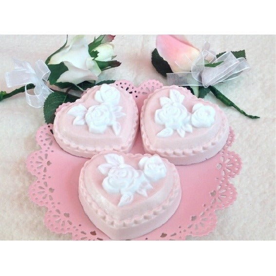 Lovely heart-shaped soap makes a great guest soap - Knittins With Kittens - 1