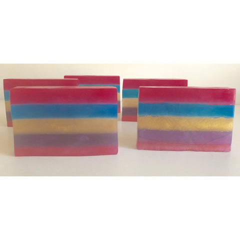 Rainbow layered bath soap - Knittins With Kittens - 1
