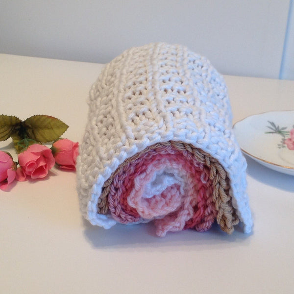 Hand knit washcloths - pairs perfectly with our soaps - Knittins With Kittens - 1