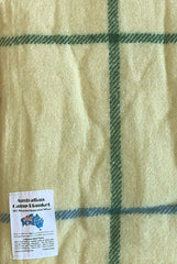 Wool Blend Camp Blanket - Lemon Check