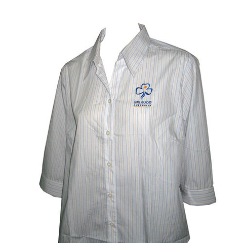 Leaders 3/4 Sleeve Stripe Uniform Shirt - Guides Queensland Guide Supplies