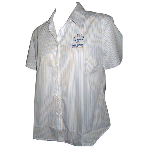 New - Leaders Striped Short Sleeve Uniform Shirt