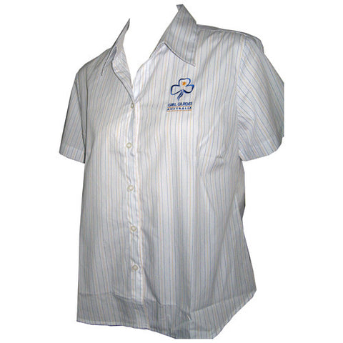 Leader Short Sleeve Stripe Uniform Shirt - Guides Queensland Guide Supplies - 1