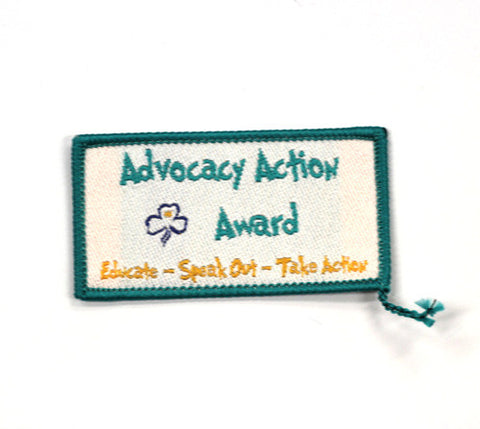 Advocacy Action Award Badge - Guides Queensland Guide Supplies