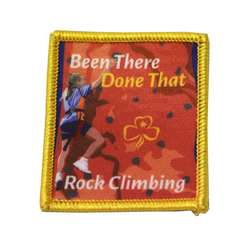 Rock Climbing Been There Done That Bound Badge
